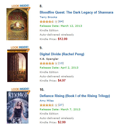 I have actually read Terry Brooks and wheeee!