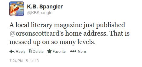 orson scott card home address