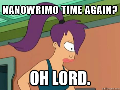 My hastily-Photoshopped Leela says it all.  And now I'll write a thousand-word post!